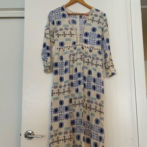 Dresses & Skirts - White and Blue Print Dress